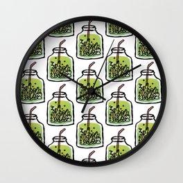 Mason Jar Tea Wall Clock