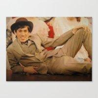caleb troy Canvas Prints featuring Troy by Eddie Frietas