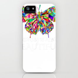"""butterfly tee tee """""""" compassion is always gorgeous"""" """" iPhone Case"""