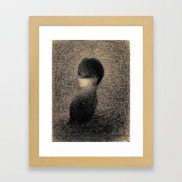 Georges Seurat - La Voilette - Rare Retro Vintage Drawing Framed Art Print