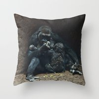 mother Throw Pillows featuring Mother by Mary Kilbreath