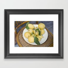 when life hands you lemons::cinque terre, italy Framed Art Print