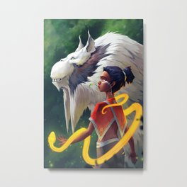 Nuru and Aki Metal Print
