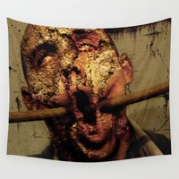 zombie Wall Tapestries featuring Zombie  by Limitless Design