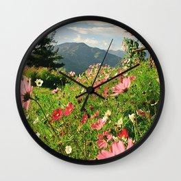 Summer Flower Field Wall Clock