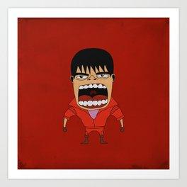 Screaming Kaneda Art Print