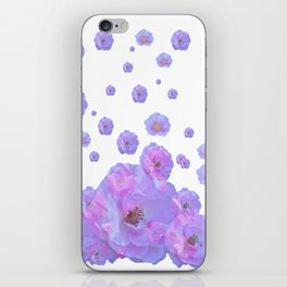 PALE BLUISH-PINK ROSE GARDEN ABSTRACT FLORAL iPhone Skin