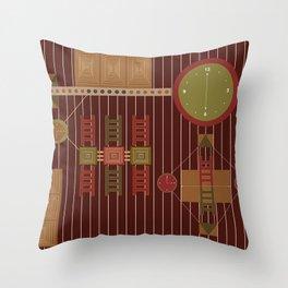 African Adinkra Owuo Atwedee Throw Pillow
