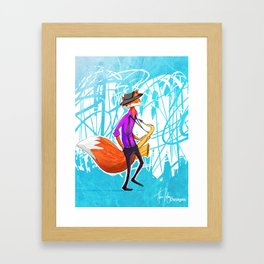 Sly the Fox Framed Art Print