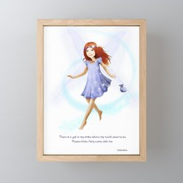 Please Little Fairy, Come Visit Me Framed Mini Art Print