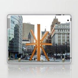 Orange Burst Laptop & iPad Skin