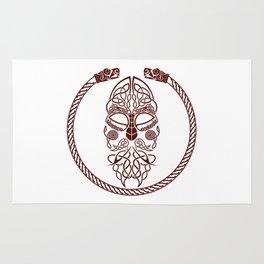 Knotted Viking Dragon Circle Rug