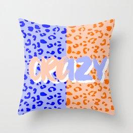 Crazy Leopard Throw Pillow