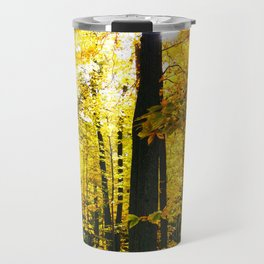 Sun Through Autumn Leaves Travel Mug