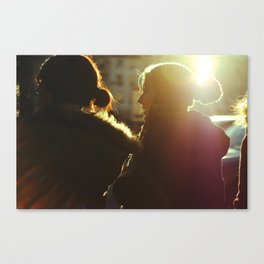 Two Girls in Paris Canvas Print
