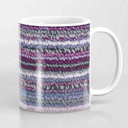 Carpet Stripes Eggplant Purple Steel Blue Coffee Mug