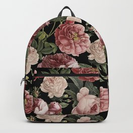 Lush Victorian Roses Backpack