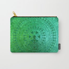 Green Mandala Circle Carry-All Pouch