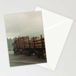 Loggers in the Rain Stationery Cards
