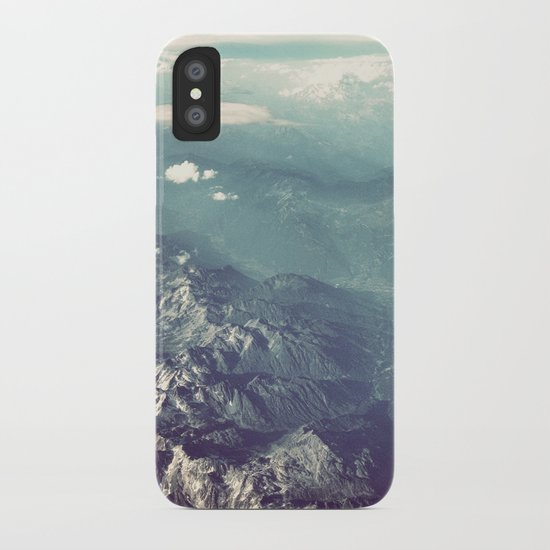 Aerial View of the French Alps iPhone Case