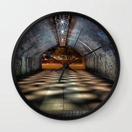 Tunnel of lights Wall Clock