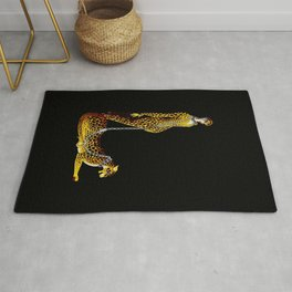 """""""Lady and the Leopard"""" Art Deco Design Rug"""