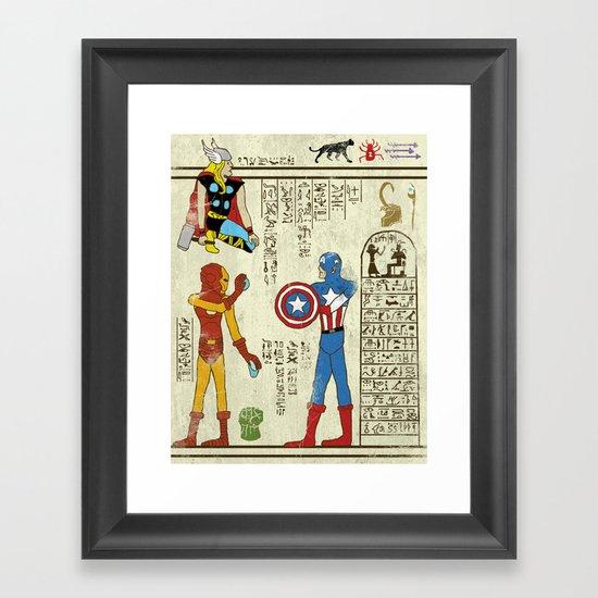 hero-glyphics: Avengers Framed Art Print