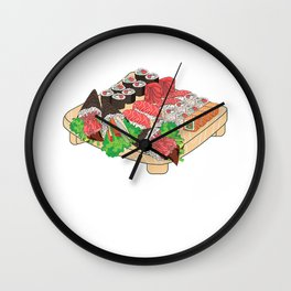 Japanese Sushi Snacks Cartoon Yummy Cool Food Lover Gift T-Shirt Wall Clock