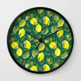 Limes and Lemons inside vintage pattern Wall Clock