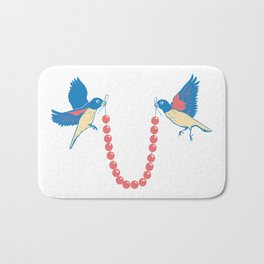 Birds and necklace Bath Mat