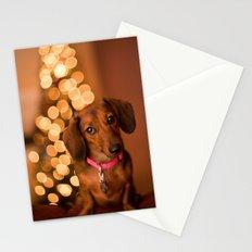 Dachshund Christmas Stationery Cards