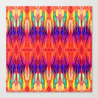 carnival Canvas Prints featuring Carnival by Holly Sharpe