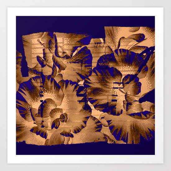 flowers through a pane Art Print