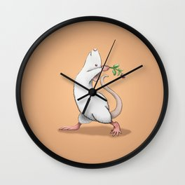Yoga Rat, Day 6 Wall Clock