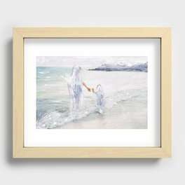On the Shore: Thetis and Achilles Recessed Framed Print