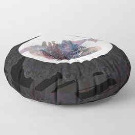 Psychedelic Wolves Floor Pillow
