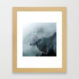 Wilderness Wolf & Poem Framed Art Print
