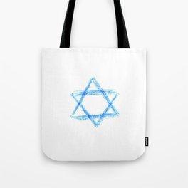 Star of David 21- Jerusalem -יְרוּשָׁלַיִם,israel,hebrew,judaism,jew,david,magen david Tote Bag