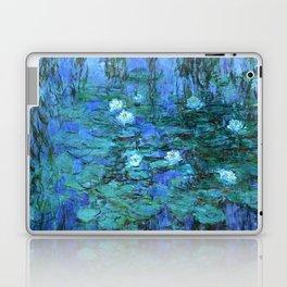 Claude Monet Water Lilies BLUE Laptop & iPad Skin