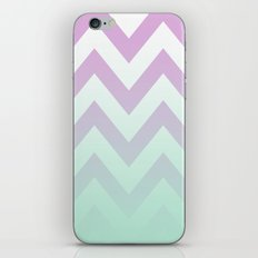 PINK CHEVRON MINT FADE iPhone & iPod Skin