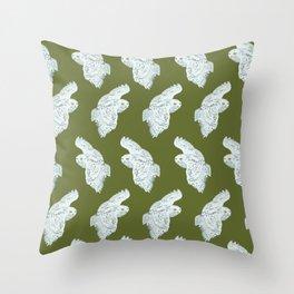 Snowy Owl Pattern Throw Pillow