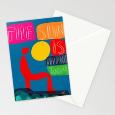 The sun is mine today illustration Stationery Cards