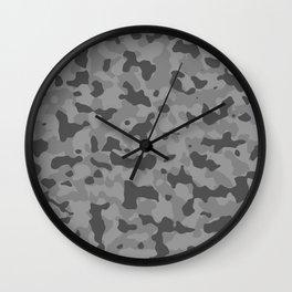 Camouflage Gray Wall Clock