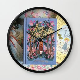 Anne of Green Gables Books Wall Clock
