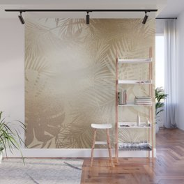 Gold Leaf Pattern Wall Mural