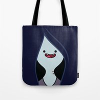 marceline Tote Bags featuring Marceline by OverClocked