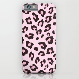 Leopard Print - Pink Chocolate iPhone Case