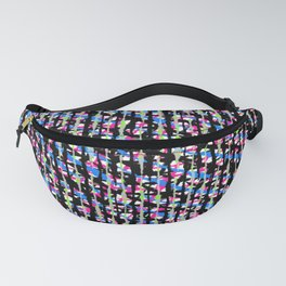 Crosshatch Brights Trend Fabric Pattern Fanny Pack