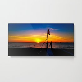 Naval Sunset  Metal Print