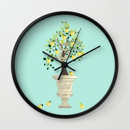 Guarding Golden Apples Wall Clock